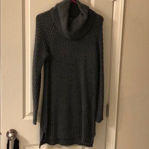 Dresses - Charcoal Gray sweater dress